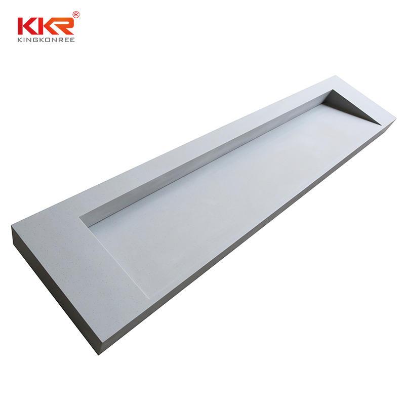 White solid surface vanity tops artificial stone bathroom sink vanity top