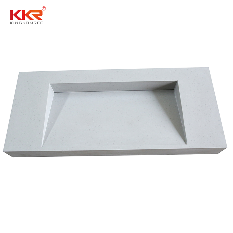 KKR Stone solid Surface bathroom vanity texture for home-1
