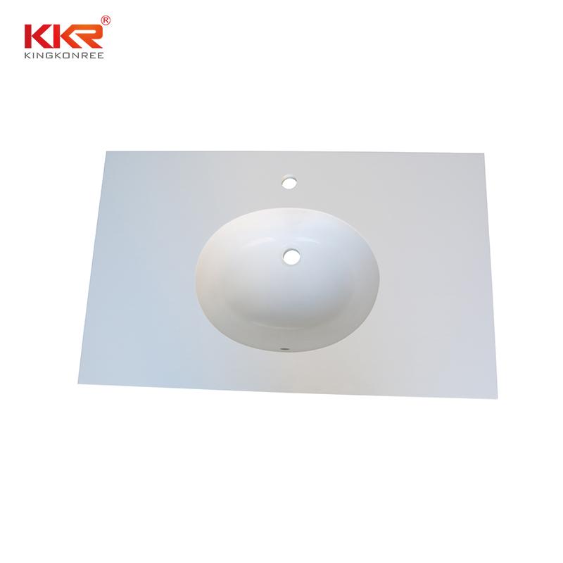KKR Stone acrylic solid surface bathroom countertops supplier for school building-1