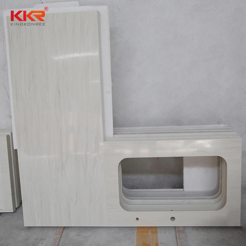 Customized pure white quartz kitchen countertops and vanity top
