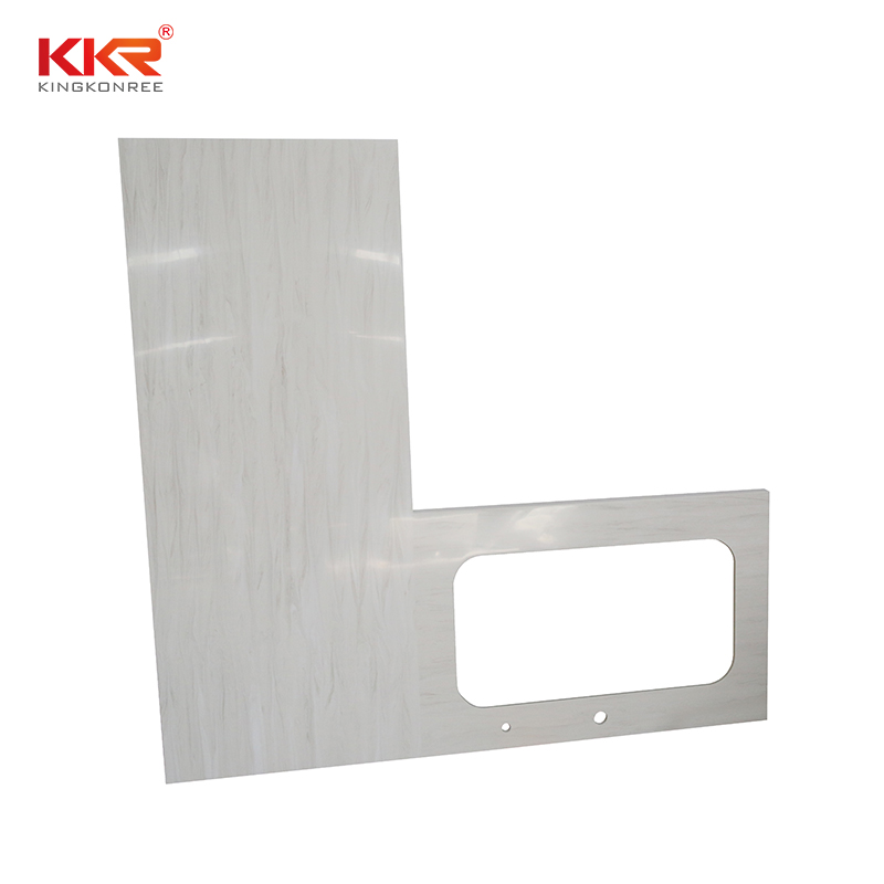 KKR Stone solid kitchen quartz countertops  supply for shoolbuilding-2
