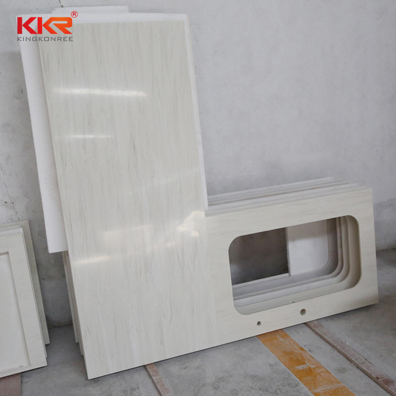 Customized pure white quartz kitchen countertops and vanity top