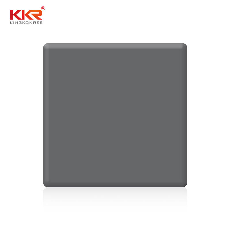 High quality grey artificial stone solid surface sheets KKR-M1706