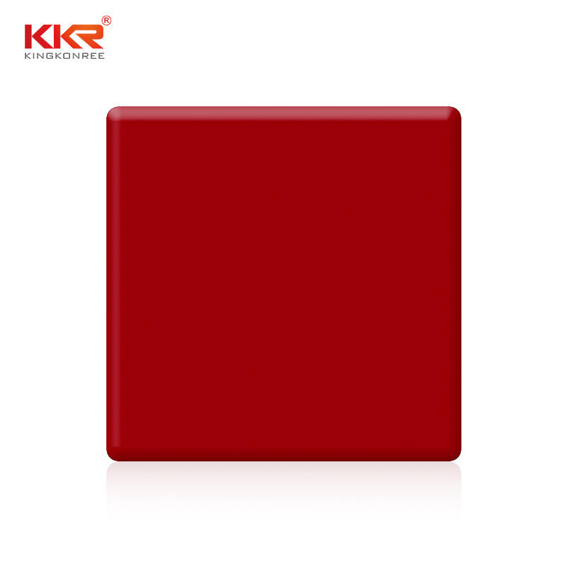Wholesales price 6mm 12mm 20mm red solid surface sheet KKR-M1717