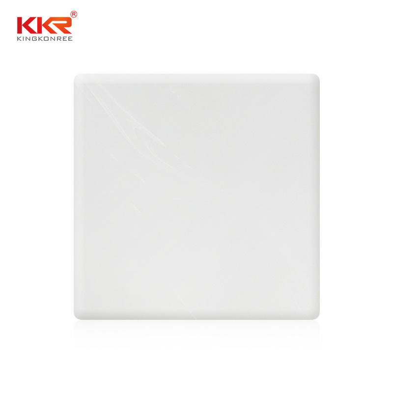 Customized marble resin stone pattern decorative board acrylic solid surface sheet twin-wall KKR-M8606
