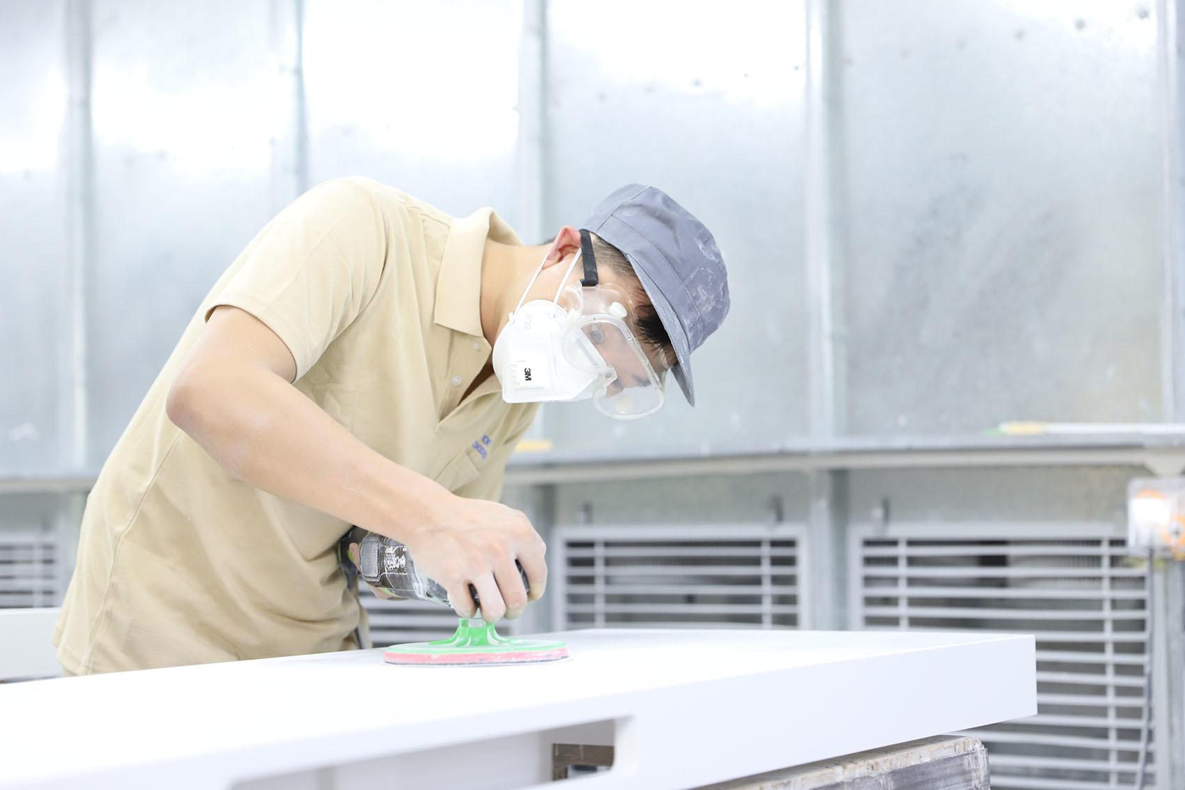 Wash basin production line