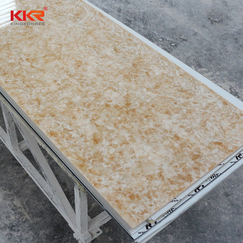 KKR Stone modified corian solid surface sheet effectively for early education-2