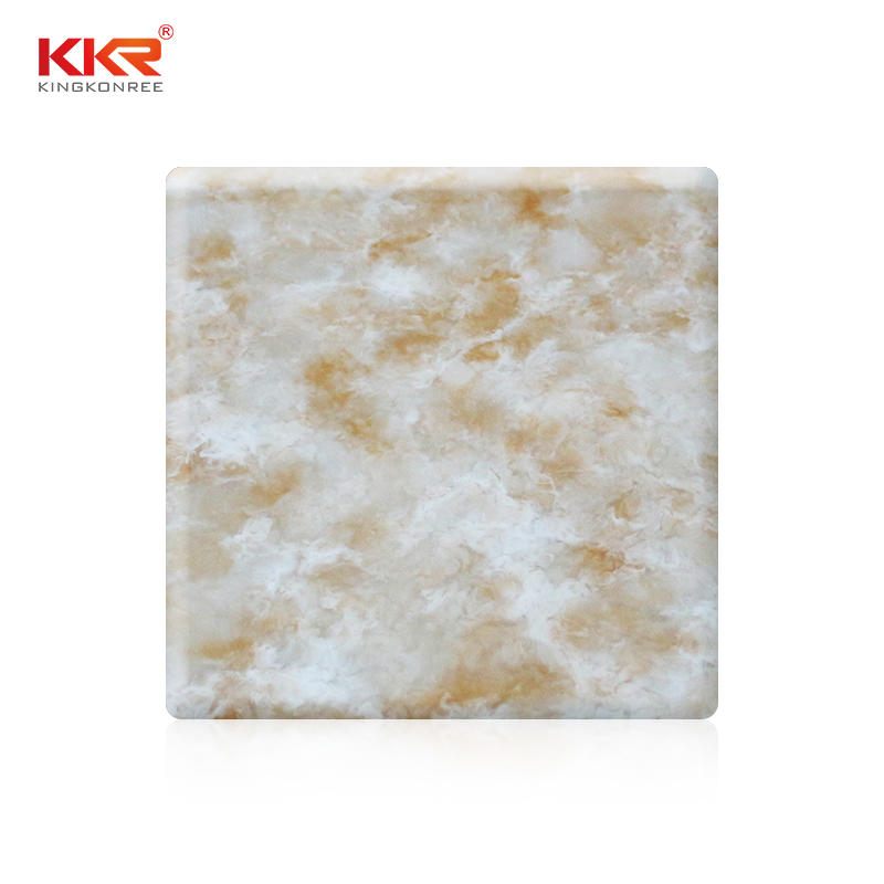 High quality solid surface sheet artificial marble resin stone texture solid surface slab KKR-M8802