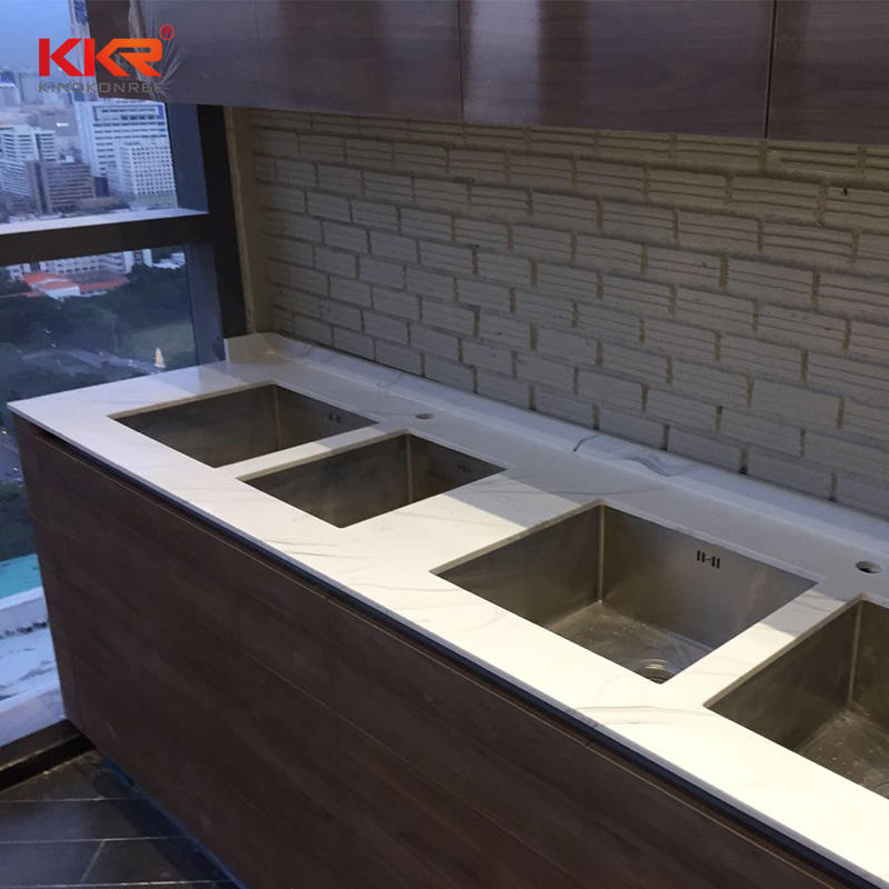 Customized Artificial Marble Acrylic Stone Solid Surface Kitchen Counter Top Bench Top-01