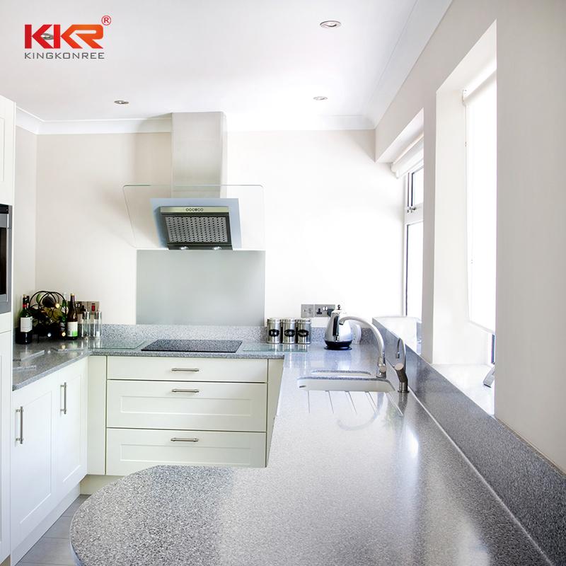 KKR Stone silky kitchen quartz countertops at discount furniture set-1