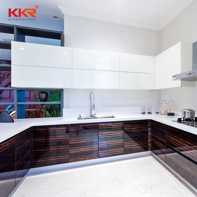 KKR Stone smooth kitchen quartz countertops for garden table-1