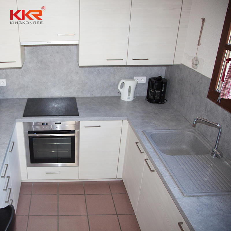 KKR modern acrylic solid surface durable artificial stone kitchen island countertop and worktop