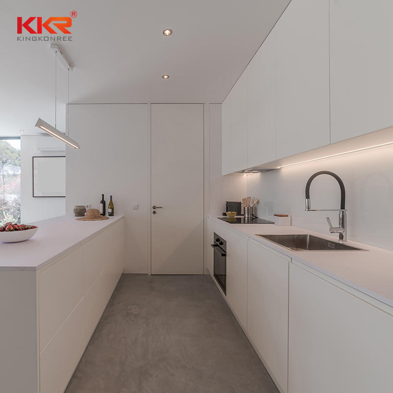 KKR High quality custom size marble solid surface kitchen bench tops