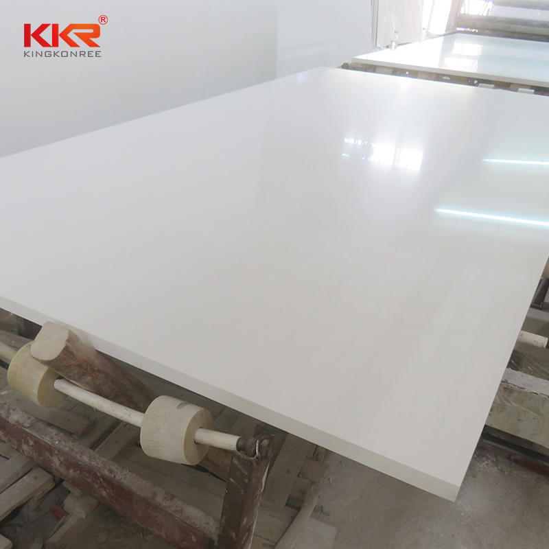 Artificial quartz stone pure white slab for countertop/vanity top/wall and floor tile KKR-QF001