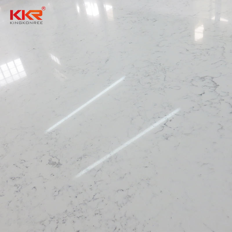 Artificial Marble Quartz Stone Slabs for kitchen countertop KKR-QY058