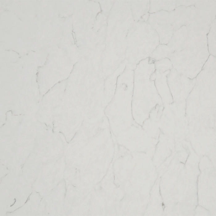 Artificial Carrara White Large Size Quartz Slab Engineered Stone KKR-QY032