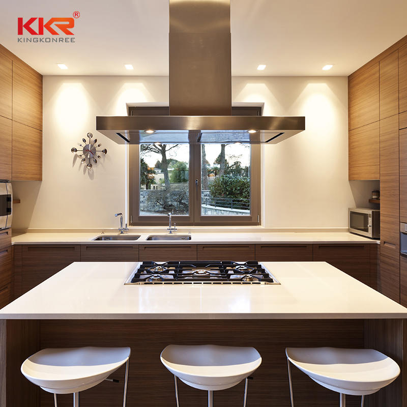 KKR Custom Made Faux Quartz Solid Surface Kitchen Worktop Bench Top