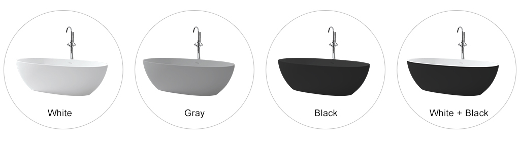 KKR Stone free standing bath tubs  manufacturer for building-1