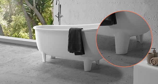 KKR Stone acrylic free standing bath tubs supply for school building-7