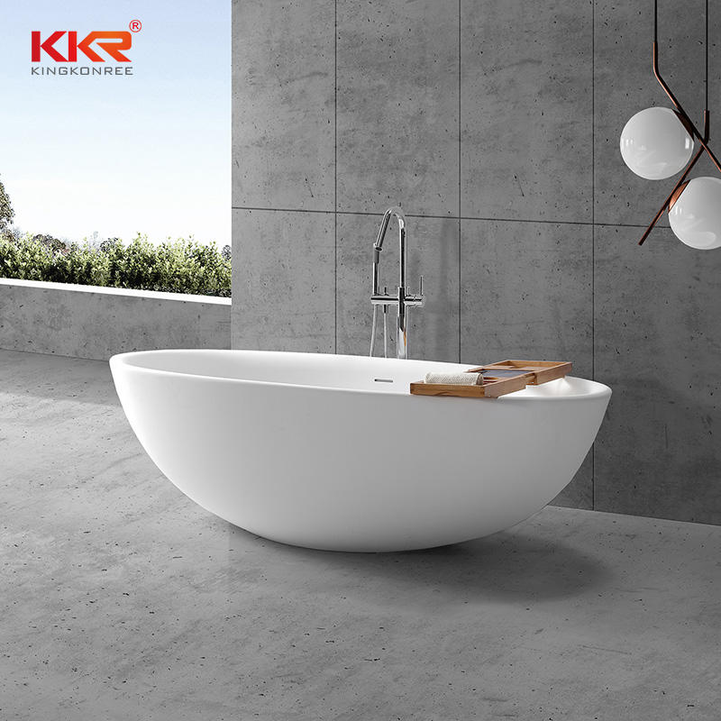 New 2020 Trending Products Solid Surface Soaking Freestanding Bathtub KKR-B093