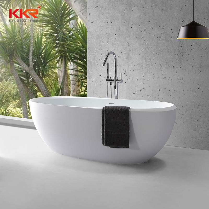 Eco-friendly artificial marble freestanding bathtub solid surface bathtub KKR-B096
