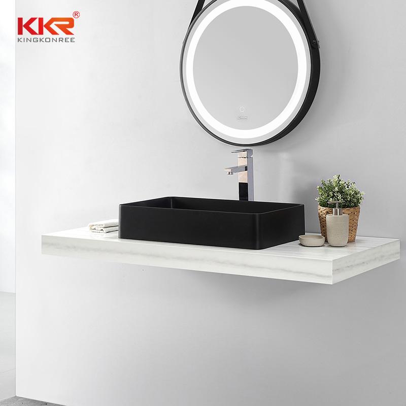 KKR Stone solid surface basin custom-design for kitchen tops-2