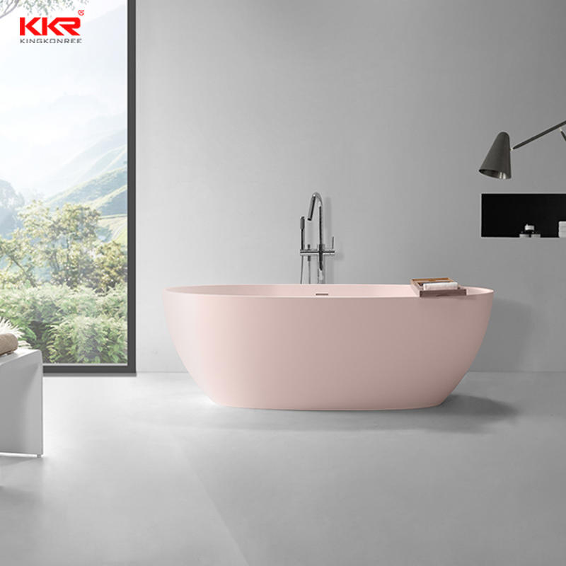 KKR New arrival oval design custom solid surface bathtub KKR-B097
