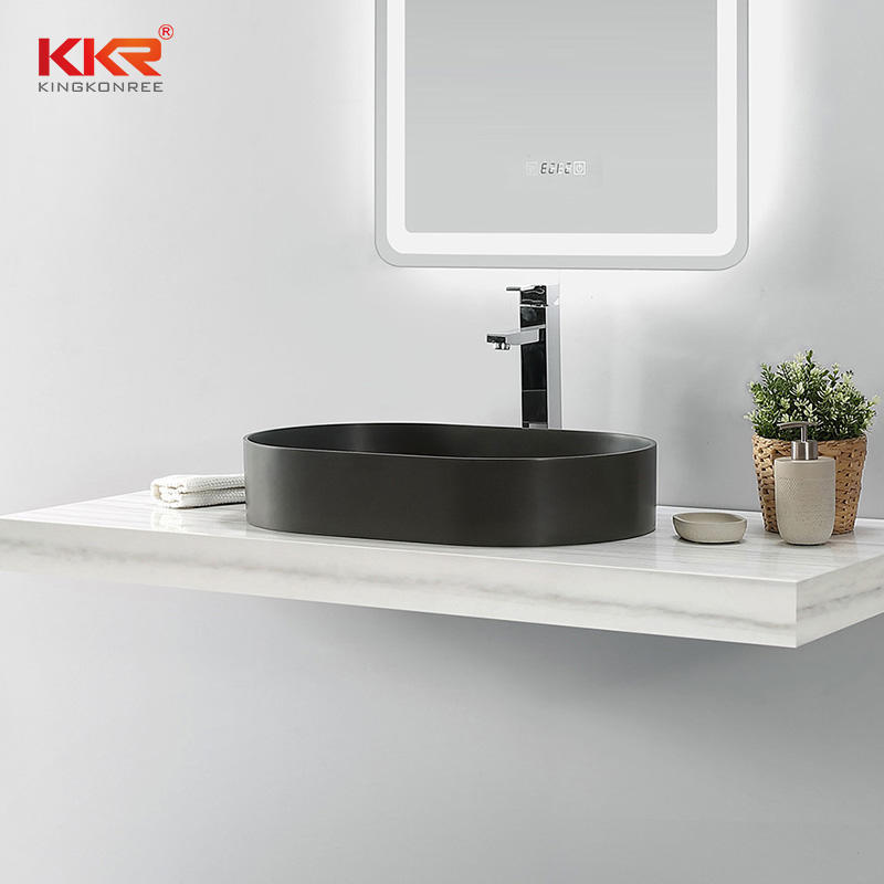 New Narrow Edge Design Gray particles Above Counter Wash Basin