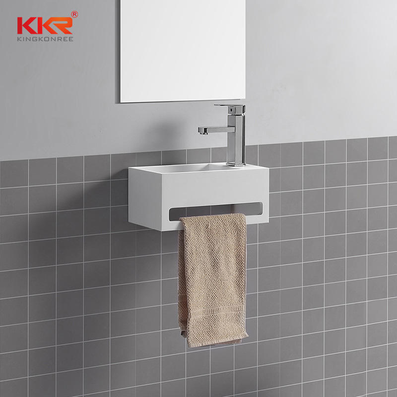 Hot Sales Small Size Wall Mounted Wash Basin With Towel Hanger