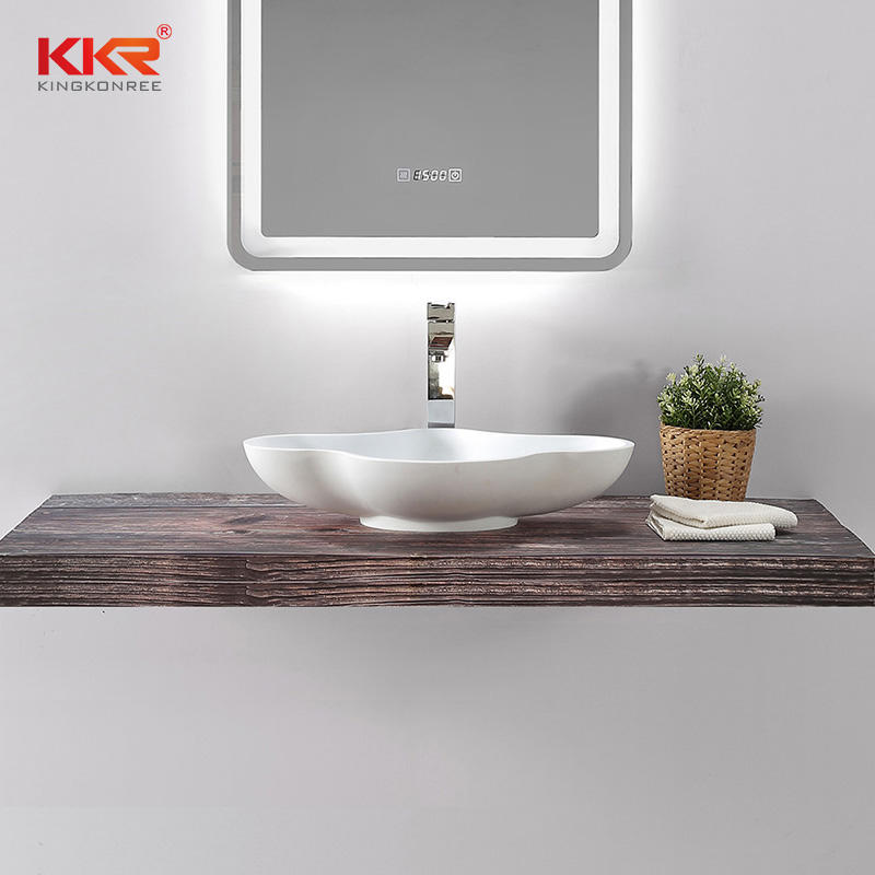 Special Design Bathroom Unique Wash Basin Artificial Stone Sink