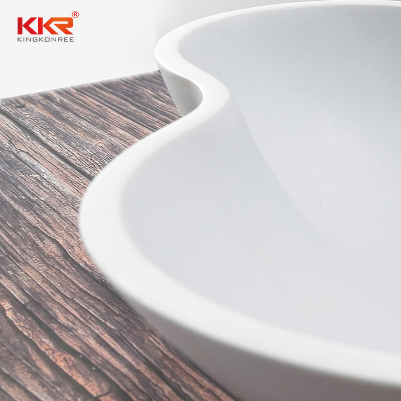 Special Design Bathroom Unique Wash Basin Artificial Stone Sink
