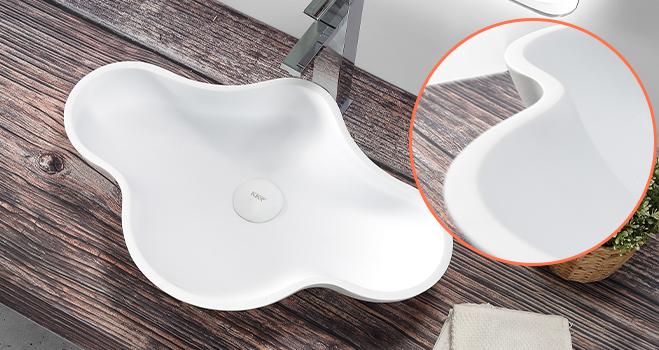 KKR Stone modern bathroom vanity with sink bulk production for table tops-5