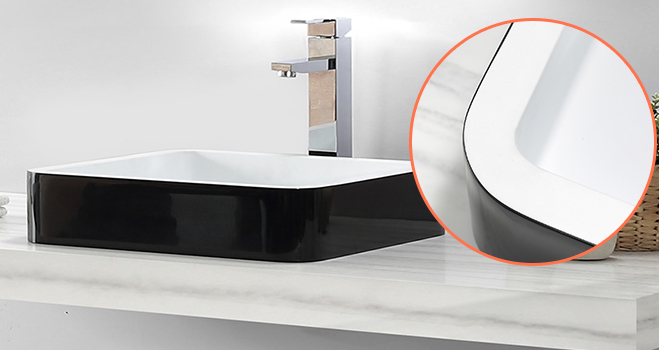 easy to clean corian bathroom sinks in special shapes for table tops-5