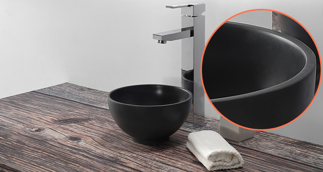 KKR Stone easy to clean undermount bathroom sink in good performance for school building-5