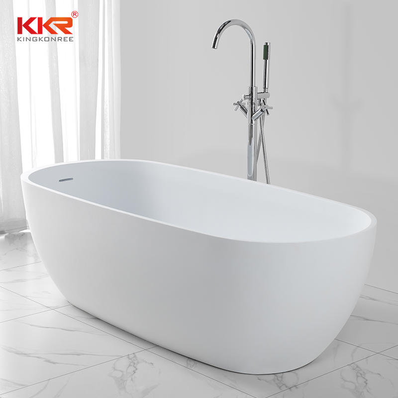 Standard Acrylic Solid Surface Gray Freestanding Bathtubs KKR-B027