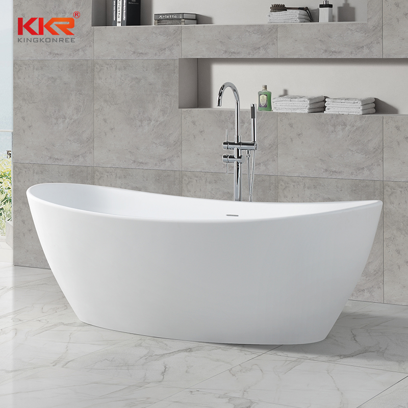 KKR Stone free standing bath tubs supply for home-2