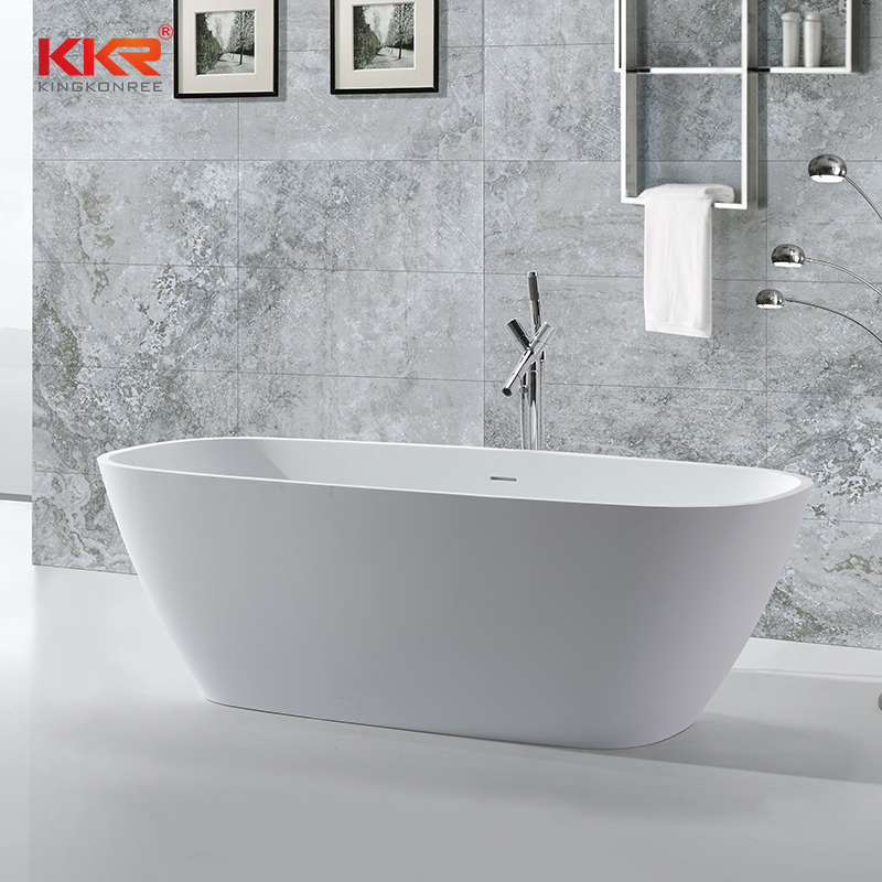 KKR Stone unique free standing bath directly sale for building-2