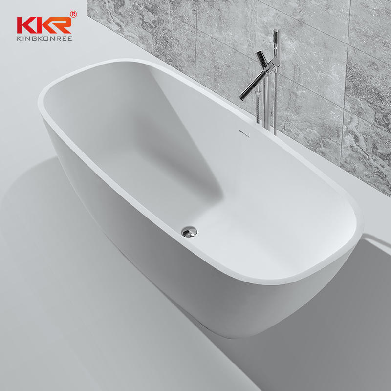 Custmized Modern Design Gray Solid Surface Bathtub KKR-B037
