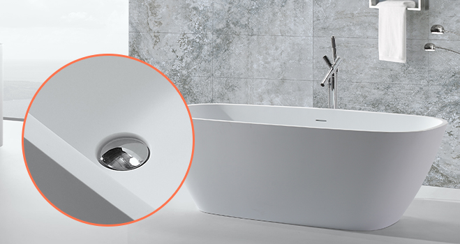 KKR Stone bathtub surround from China for home-6