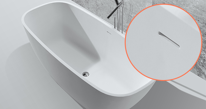KKR Stone bathtub surround from China for home-7