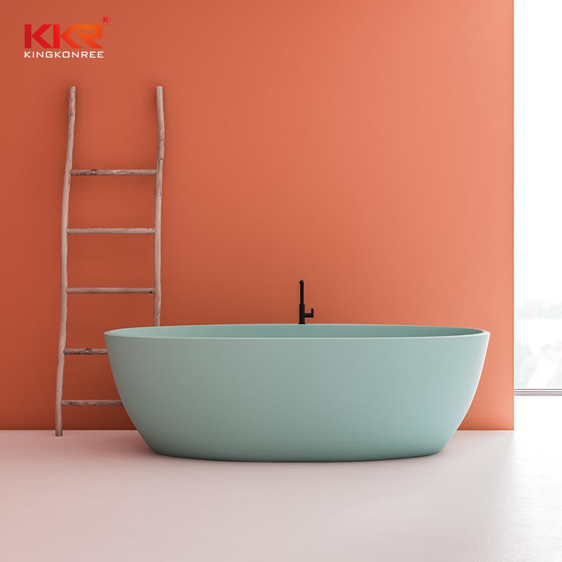 Standard Acrylic Solid Surface Gray Freestanding Bathtubs KKR-B027