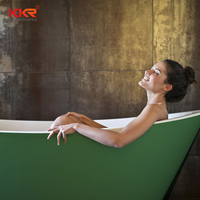 KKR Stone free standing bath tubs supply for home-1