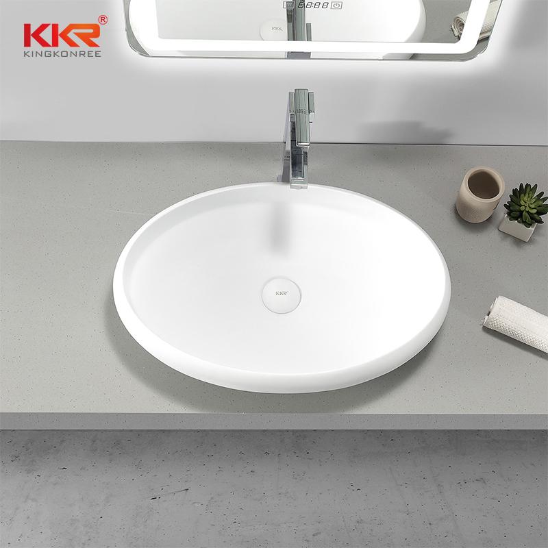 KKR Stone white corian countertops supply for kitchen tops-2
