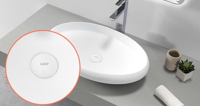 KKR Stone undermount kitchen sink in good performance for kitchen tops-4
