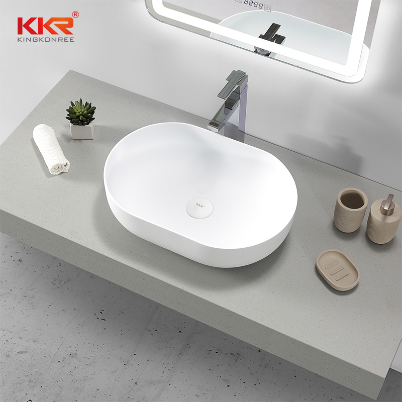 KKR Stone lassic style corian basin in good performance for table tops-1