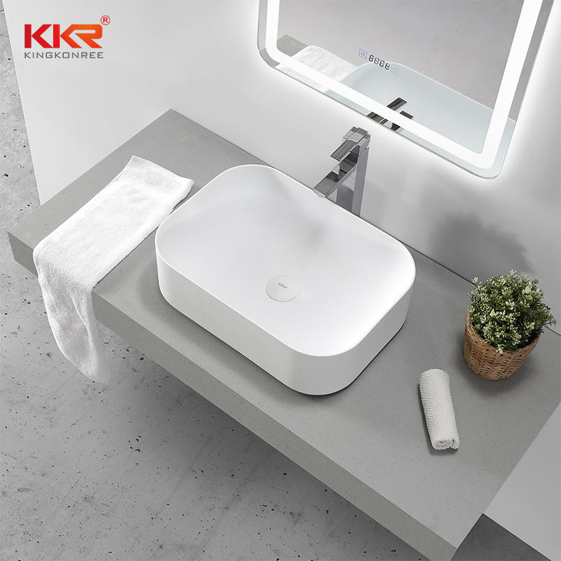 High Quality Above Counter Basin Artificial Stone Sink