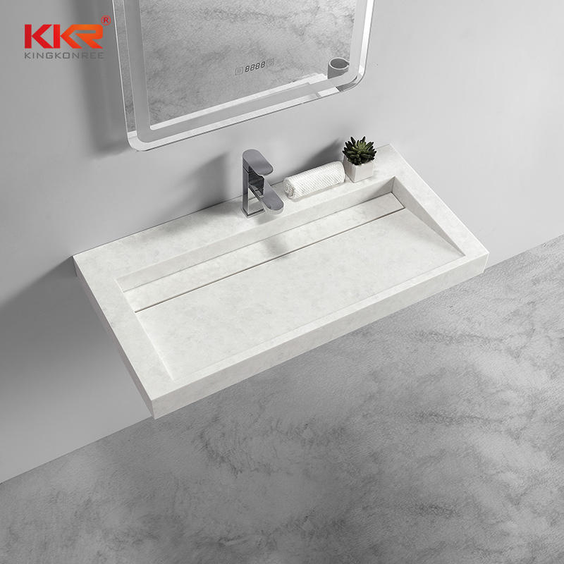 Luxury Design High-end Solid Surface Wall Hung Basin KKR-1263