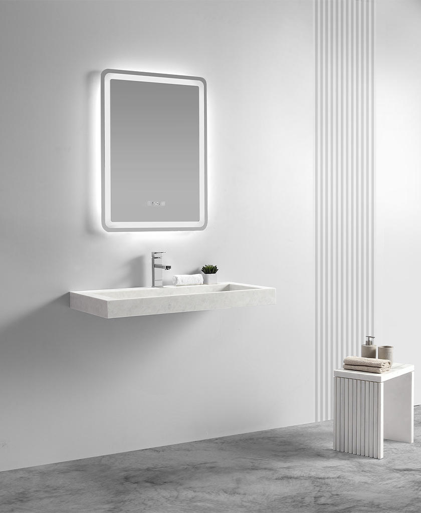 modern bathroom vanity with sink vendor for school building