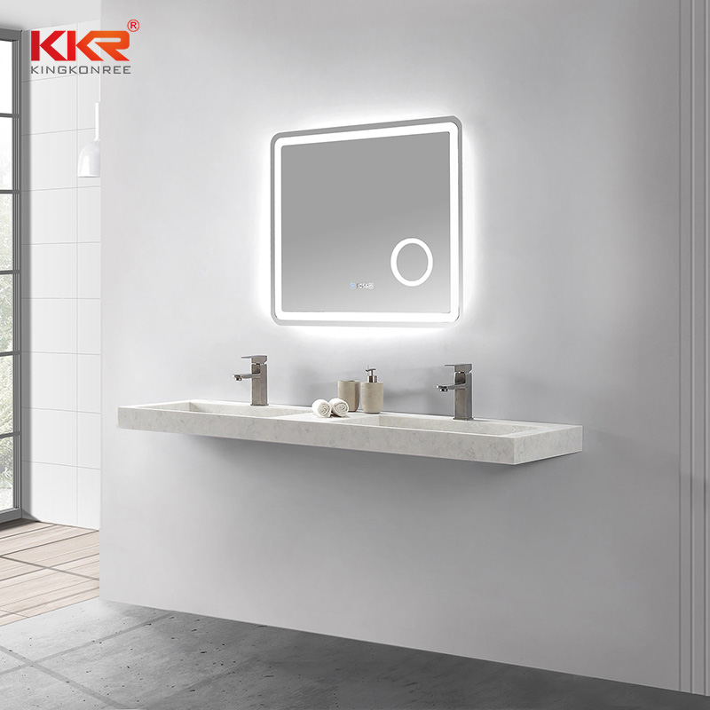 KKR Stone solid surface wash basin bulk production for school building-2