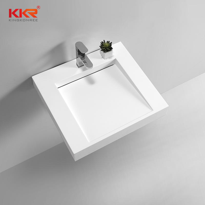 European Design Solid Surface Small Slope Wall Mount Wash Basin